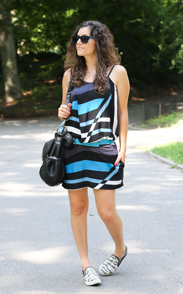 Abstract Print Dress Slip On Sneakers