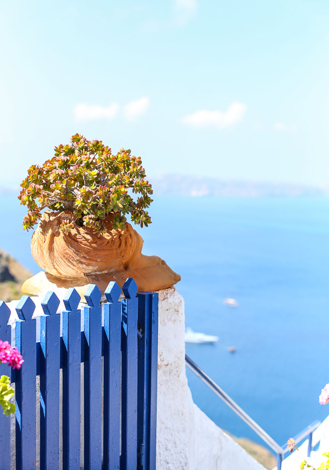 touring Fira, Santorini for a day