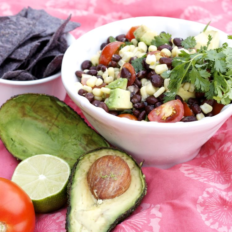 bean corn avocado summer salad