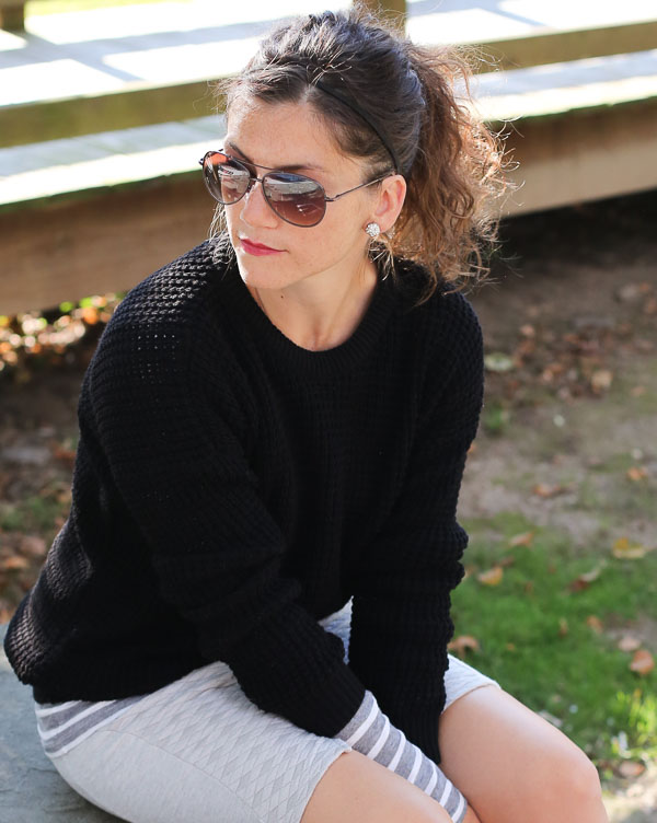 Casual Fridays Sweater Quilted Skirt