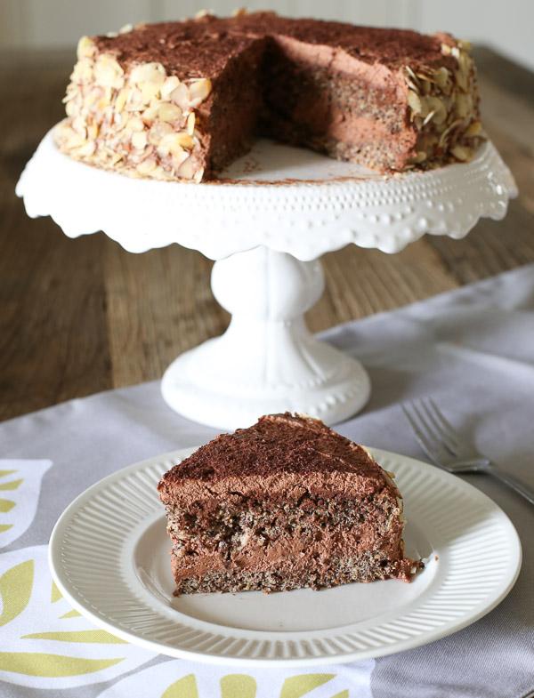 Gluten Free Chocolate Layered Cake with Chocolate Cream